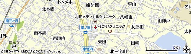 愛知県東海市名和町(八幡前)周辺の地図