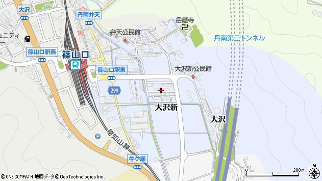 〒669-2211 兵庫県丹波篠山市大沢新の地図