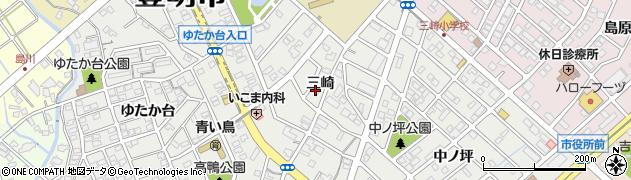 愛知県豊明市三崎町(三崎)周辺の地図