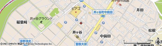 愛知県刈谷市井ケ谷町(下前田)周辺の地図