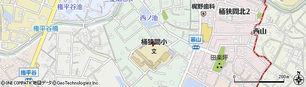 愛知県名古屋市緑区桶狭間巻山周辺の地図