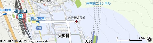大沢新公民館周辺の地図