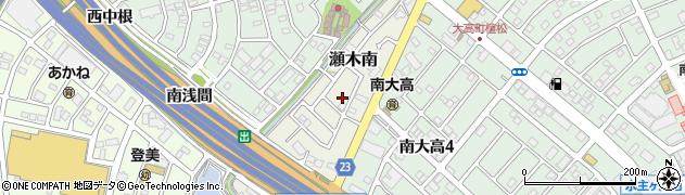 愛知県名古屋市緑区大高町(下西峡)周辺の地図