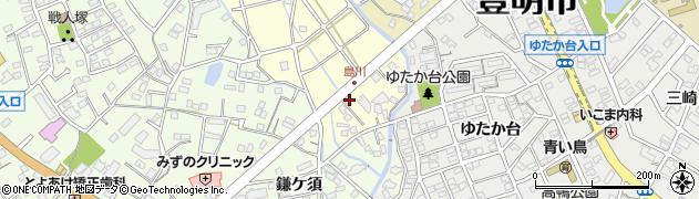 愛知県豊明市間米町(島川)周辺の地図