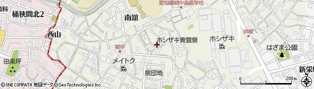 愛知県豊明市栄町(南舘)周辺の地図