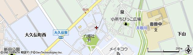 愛知県豊明市大久伝町(東)周辺の地図
