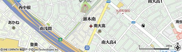 愛知県名古屋市緑区大高町(南休)周辺の地図