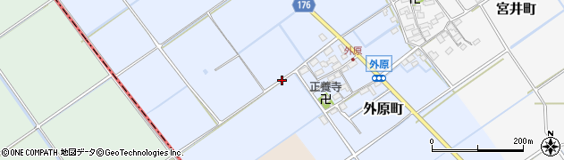滋賀県東近江市外原町周辺の地図