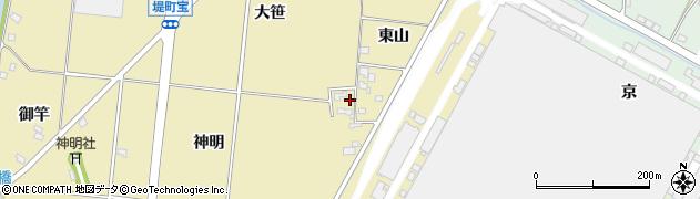 愛知県豊田市堤町(東山)周辺の地図