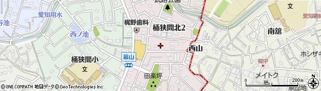 愛知県名古屋市緑区桶狭間北周辺の地図