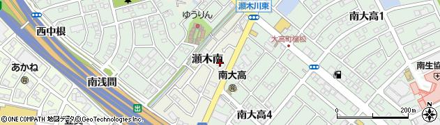 愛知県名古屋市緑区大高町(柿木峡)周辺の地図