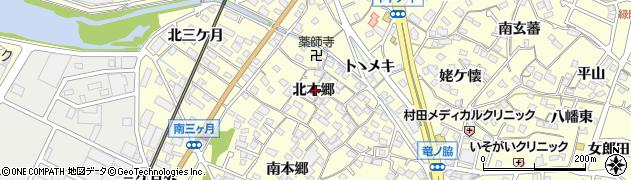 愛知県東海市名和町(北本郷)周辺の地図