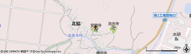安徳寺周辺の地図