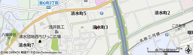 愛知県豊田市清水町周辺の地図