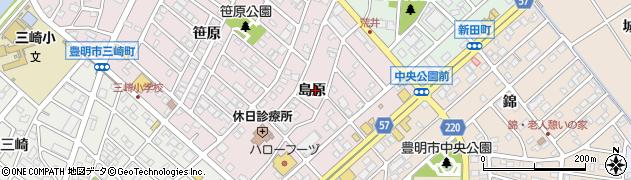 愛知県豊明市西川町(島原)周辺の地図