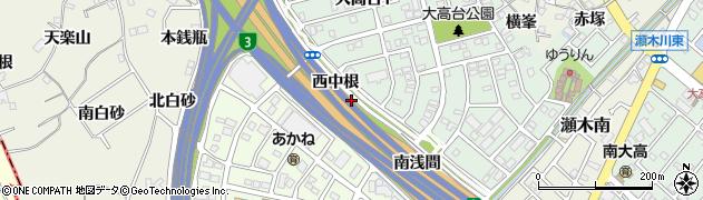愛知県名古屋市緑区大高町(西中根)周辺の地図