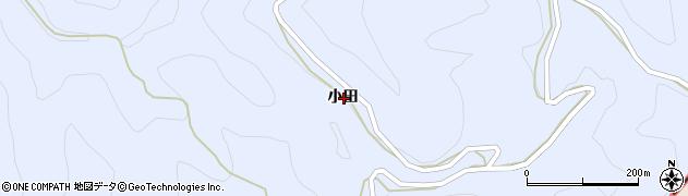 愛知県北設楽郡東栄町三輪小田周辺の地図
