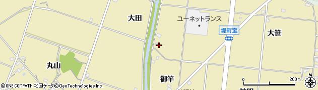 愛知県豊田市堤町(宝)周辺の地図