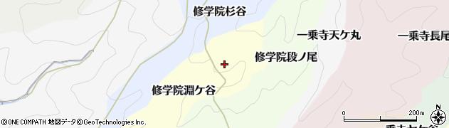 京都府京都市左京区修学院淵ケ谷周辺の地図