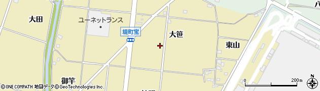 愛知県豊田市堤町(大笹)周辺の地図