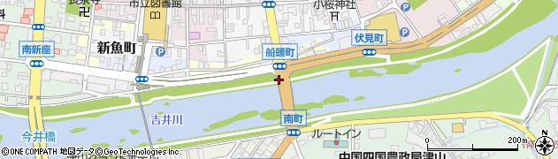 岡山県津山市船頭町周辺の地図