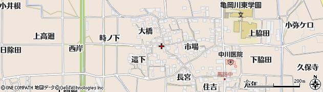 京都府亀岡市馬路町周辺の地図