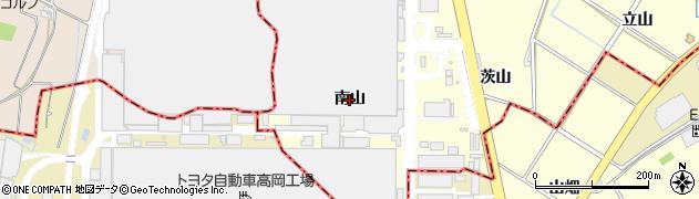 愛知県みよし市明知町(南山)周辺の地図