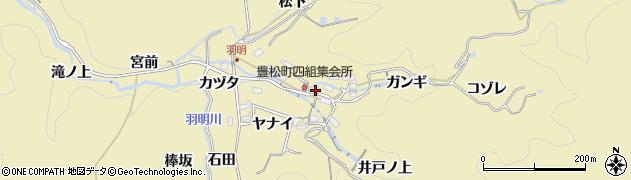 愛知県豊田市豊松町(寺下)周辺の地図