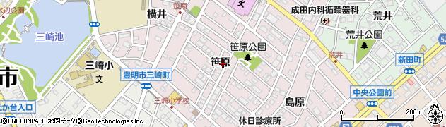 愛知県豊明市西川町(笹原)周辺の地図