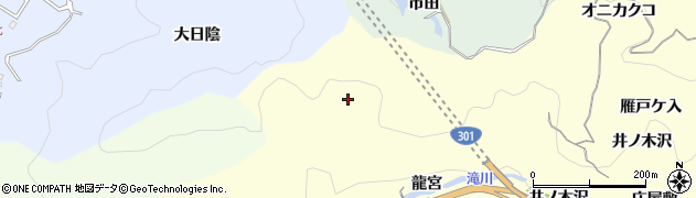 愛知県豊田市大内町(龍宮)周辺の地図