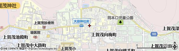 京都府京都市北区上賀茂梅ケ辻町周辺の地図