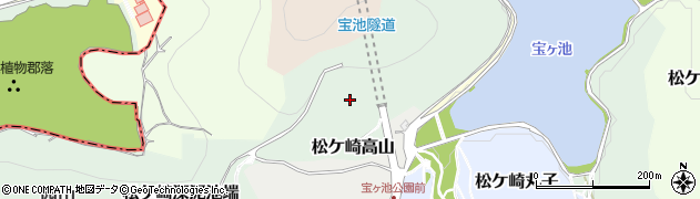 京都府京都市左京区松ケ崎高山周辺の地図