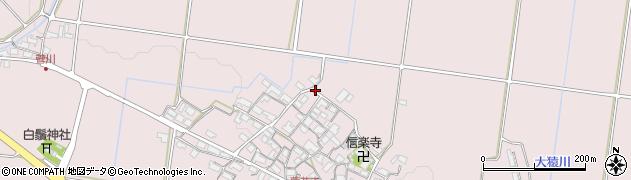 滋賀県日野町(蒲生郡)蓮花寺周辺の地図