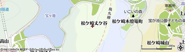 京都府京都市左京区松ケ崎丈ケ谷周辺の地図