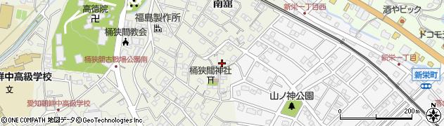愛知県豊明市栄町(山ノ神)周辺の地図