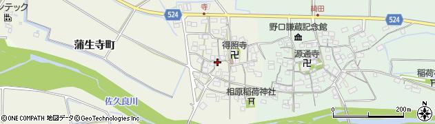 滋賀県東近江市蒲生寺町周辺の地図