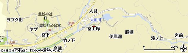 愛知県豊田市豊松町(富士塚)周辺の地図