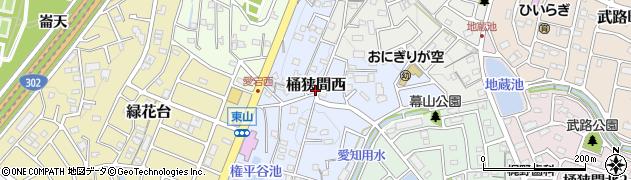 愛知県名古屋市緑区桶狭間西周辺の地図