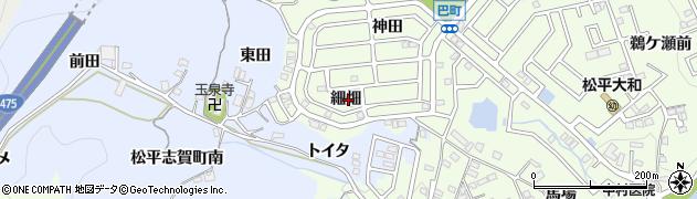 愛知県豊田市巴町(細畑)周辺の地図