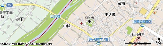 愛知県刈谷市井ケ谷町(山伏)周辺の地図