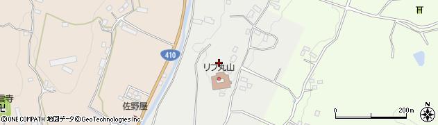 千葉県南房総市川谷周辺の地図
