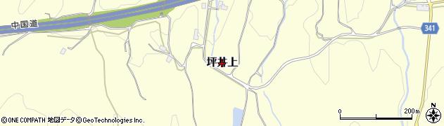 岡山県津山市坪井上周辺の地図