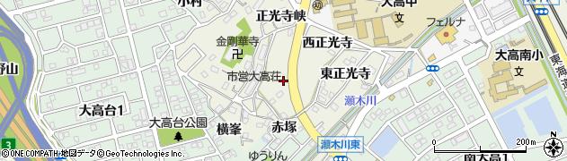 愛知県名古屋市緑区大高町(赤塚)周辺の地図