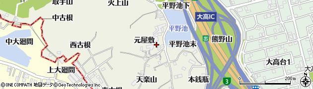 愛知県名古屋市緑区大高町(元屋敷)周辺の地図