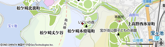 京都府京都市左京区松ケ崎木燈篭町周辺の地図