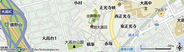 愛知県名古屋市緑区大高町(北横峯)周辺の地図