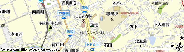愛知県東海市名和町(蓮池)周辺の地図