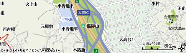 愛知県名古屋市緑区大高町(熊野山)周辺の地図