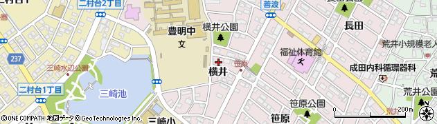 愛知県豊明市西川町(横井)周辺の地図
