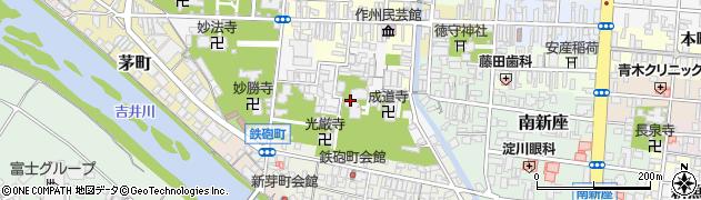泰安寺周辺の地図